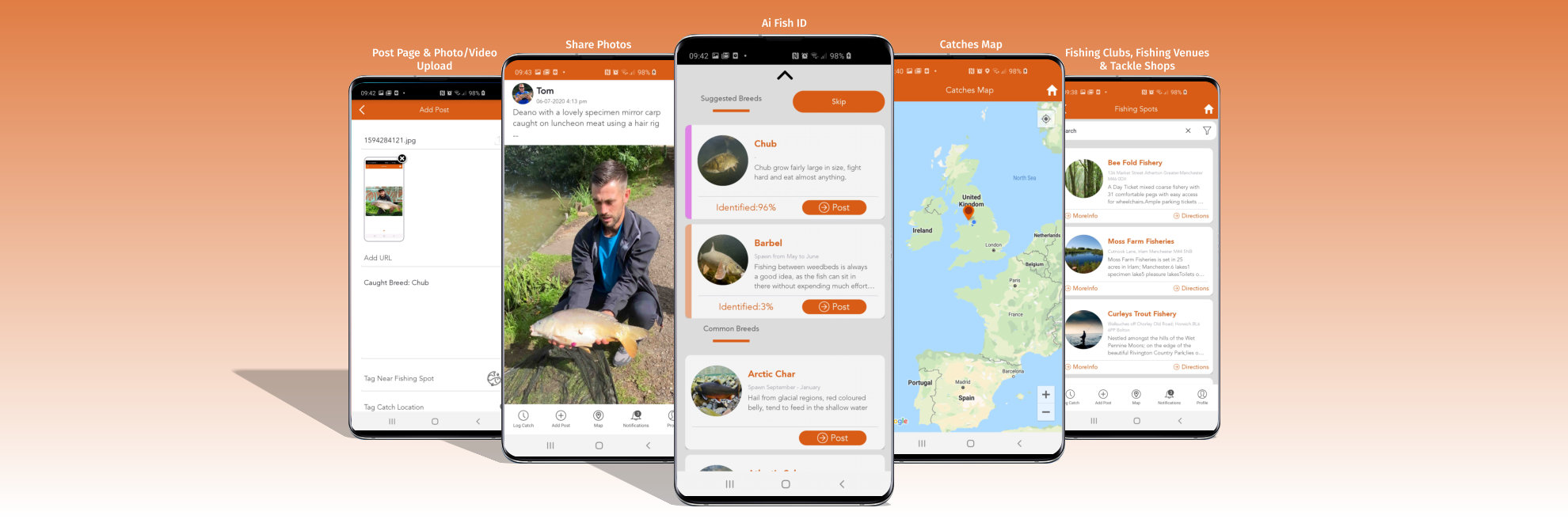 FishBuddy App screenshots